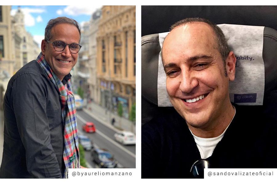 Así se han cuidado Victor Sandoval y Aurelio Manzano tras el trasplante capilar.